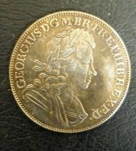 NICE  GEORGE I 1723 SSC CROWN IN LY FINE CONDITION