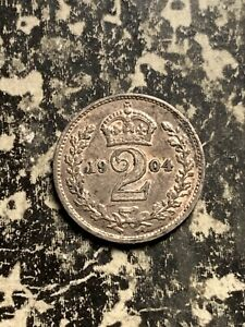 1904 GREAT BRITAIN 2 PENCE TWO PENCE MAUNDY LOTQ0171 SILVER  14 000 MINTED