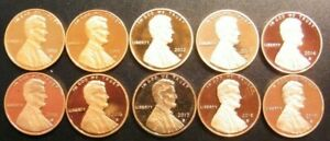 2010 11 12 13 14 15 16 2017 2018 2019 S LINCOLN SHIELD PROOF PENNIES WITH SPOTS