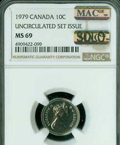 Click now to see the BUY IT NOW Price! 1979 CANADA 10 CENTS NGC MS 69 PQ MAC SOLO FINEST GRADE SPOTLESS