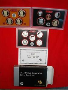 2012 U.S 14 PC. SILVER PROOF SET   AS NICE AS THEY GET AND A HIGH DEMAND SET TOO