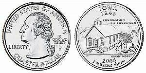 2004 P IOWA STATE QUARTER BU BRILLIANT UNCIRCULATED COIN