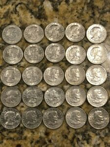 CIRCULATED 1979 AND 1980 SUSAN B ANTHONY SILVER DOLLAR  LOT OF 25
