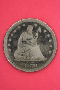 1876 P SEATED LIBERTY QUARTER EXACT COIN PICTURED FLAT RATE SHIPPING OCE060