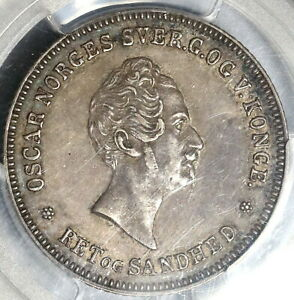 Click now to see the BUY IT NOW Price! 1849 PCGS AU 50 NORWAY 1/2 SPECIE DALER OSCAR SILVER COIN  19122301D