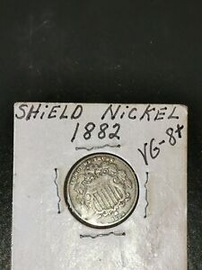 Click now to see the BUY IT NOW Price!  1882 SHIELD NICKEL   U.S.A. COIN   OVER 135 YEARS OLD