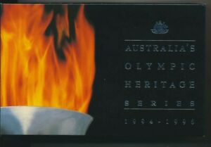 AUSTRALIA: 1994 1996 $10 OLYMPIC HERITAGE EMPTY 6 COIN CASE & BOX  NO COINS