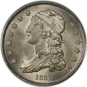 Click now to see the BUY IT NOW Price! 1831 25C LARGE LETTERS CAPPED BUST QUARTER PCGS MS65  CAC
