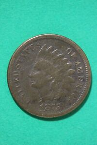 1875 INDIAN HEAD CENT PENNY LOW GRADE EXACT COIN SHOWN COMBINED SHIPPING OCE 170