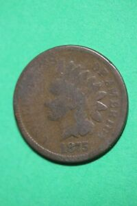 1875 INDIAN HEAD CENT PENNY EXACT COIN SHOWN FLAT RATE SHIPPING OCE 321