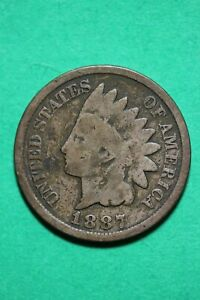 1887 INDIAN HEAD CENT PENNY EXACT COIN SHOWN FLAT RATE SHIPPING OCE 471