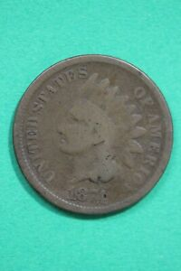 1874 INDIAN HEAD CENT PENNY EXACT COIN SHOWN COMBINED FLAT RATE SHIPPING OCE 61