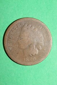 1880 INDIAN HEAD CENT PENNY BRONZE EXACT COIN PICTURED FLAT RATE SHIPPING OCE534