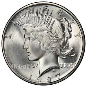 Click now to see the BUY IT NOW Price! 1927 D $1 PEACE DOLLAR PCGS MS65   CAC
