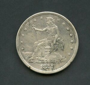 UNITED STATES 1877 S  TRADE  DOLLAR YOU DO THE GRADING HAVE FUN BIDDING