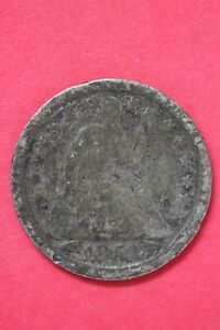 1853 P SEATED LIBERTY DIME EXACT COIN SHOWN LOW GRADE FLAT RATE SHIPPING OCE 04