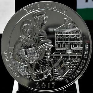 2017 ELLIS ISLAND AMERICA THE BEAUTIFUL ATB 5 OZ SILVER QUARTER