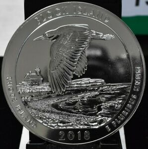 2018 BLOCK ISLAND AMERICA THE BEAUTIFUL ATB 5 OZ SILVER QUARTER
