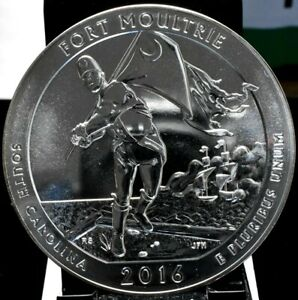 2016 FORT MOULTRIE AMERICA THE BEAUTIFUL ATB 5 OZ SILVER QUARTER