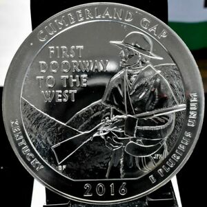 2016 CUMBERLAND GAP AMERICA THE BEAUTIFUL ATB 5 OZ SILVER QUARTER