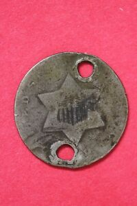 NO DATE TRIME 3 CENT SILVER COIN EXACT COIN SHOWN LOW GRADE COIN OCE 78