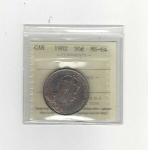 Click now to see the BUY IT NOW Price! 1902 ICCS GRADED CANADIAN 50 CENT   MS 64