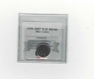 2007 COIN MART GRADED CANADIAN  10  CENT   MS 66 NBU