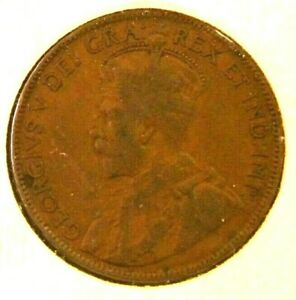 1915 CANADA LARGE 1 CENT CANADIAN COIN CANADA CANADIAN GEORGE V  OUR CC 58 2