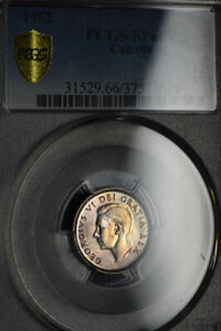 1952 TEN CENTS 10 PCGS SP 66   PERFECT WHITE COIN WITH LIGHT GOLD TONES