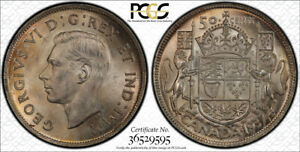 1937 FIFTY CENTS 50 PCGS MS 64  NICE LIGHT GOLDEN TONES
