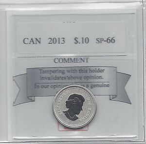 2013 COIN MART GRADED CANADIAN  10  CENT   SP 66