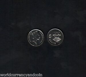 SOLOMON ISLANDS 5 CENTS KM26 1996 QUEEN UNC SOUTH PACIFIC MASK CURRENCY MONEY