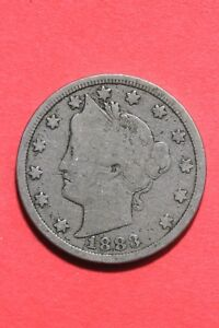 1883 LIBERTY V NICKEL NO CENTS EXACT COIN SHOWN FLAT RATE SHIPPING OCE 301
