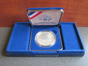 UNITED STATES MINT 1987 CONSTITUTION SILVER DOLLAR COIN