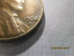 1968 S LINCOLN CENT 1C UNKNOWN ERROR OVERDATE? LOOK AT 8 IN DATE. INTERESTING