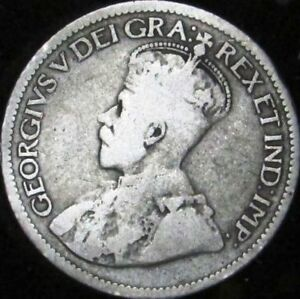 1931 VG  CANADA SILVER 10 CENTS   KM 23A   JG