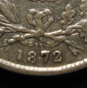 UNRECORDED LARGE 7 1872 DIE 15 VICTORIA SILVER SIXPENCE SP45 CLEAR DETAIL