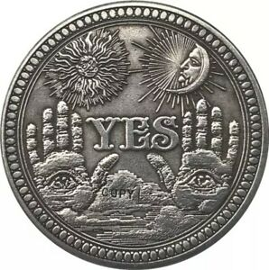 YES OR NO SKULL COMMEMORATIVE COIN CHALLENGE COLLECTIBLE COINS COLLECTION ART CR