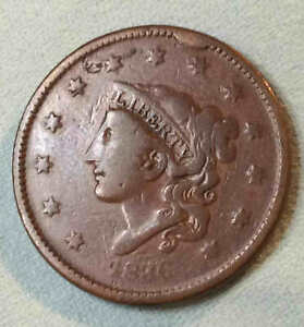 1836 LARGE CENT WITH CUD NICE LC39