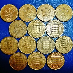 ONE ONLY UK GREAT BRITAIN 3 PENCE   YOU CHOOSE THE DATE OR DATES
