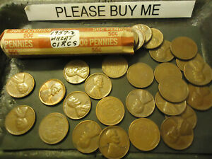 1957 D LINCOLN WHEAT CENT ROLL        >> S & H   C/S <<
