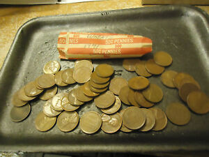 1941 ROLL OF LINCOLN WHEAT CENTS      >> C/S & H AVAILABLE <<
