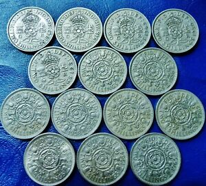 ONE ONLY UK FLORIN / TWO SHILLINGS   YOU CHOOSE THE DATE OR DATES