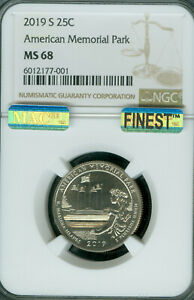 Click now to see the BUY IT NOW Price! 2019 S AMERICAN MEMORIAL QUARTER NGC MS68 PQ FINEST POP 3 MAC SPOTLESS