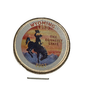 2007 P WYOMING COLORIZED STATE QUARTER
