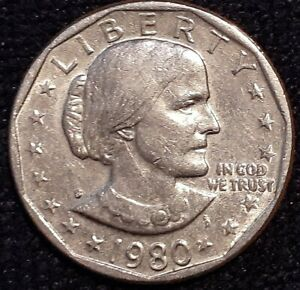 1980 S SUSAN B ANTHONY DOLLAR MS   1D  U.S. COIN. MAKE OFFER.