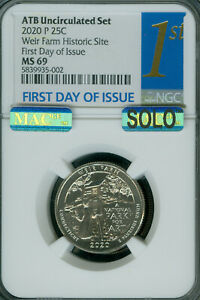 Click now to see the BUY IT NOW Price! 2020 QUARTER SET OF 10  NGC MS69 F.D.I. MAC SOLO FINEST FIRST SET WIER P POP 2