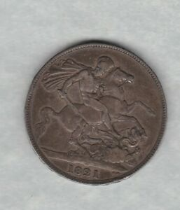 1821 GEORGE IV SECUNDO SILVER CROWN IN GOOD FINE TO NEAR FINE CONDITION