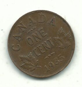 A NICELY DETAILED BETTER GRADE 1935 CANADA SMALL ONE CENT GUS119
