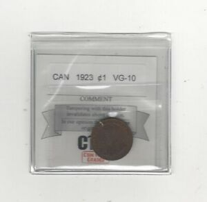 1923 COIN MART GRADED CANADIAN SMALL ONE CENT   VG 10